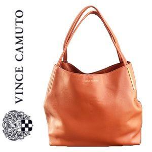 NWT Vince Camuto leather Ike tote rustic orange